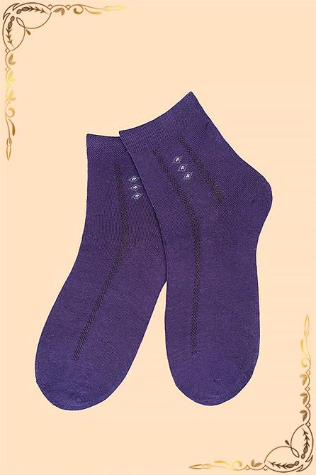 Носки Султан детские. Цвет фиолет. Вид 1. Размер 15-23