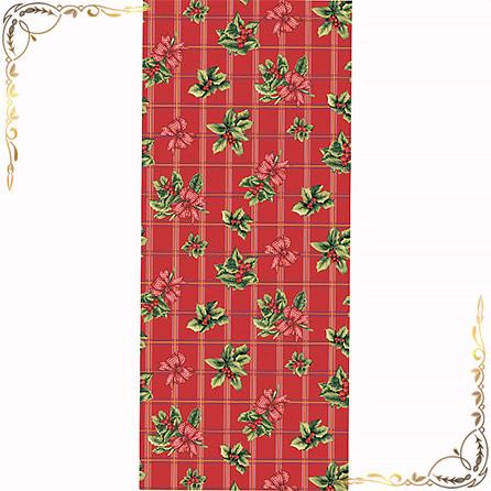 Полотенце Рождественский букет 1  100Х150. Материал вафельное полотно. Цвет бордовый.