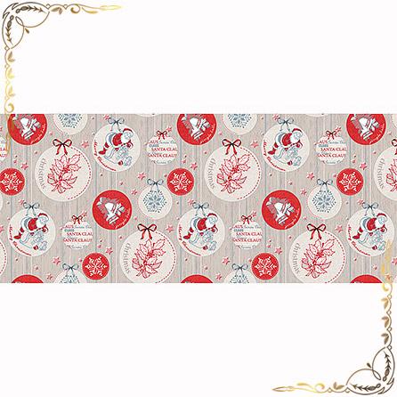 Полотенце Рождество 1  100Х150. Материал вафельное полотно. Цвет серый.