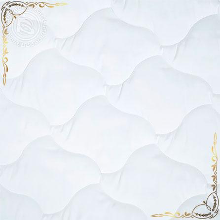 Одеяло микрофибра Меринос пл.200гр/м белое. Вид вблизи 1.