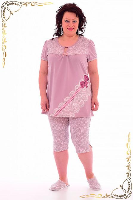 Пижама 1 135. Цвет сухая роза. Вид 2. Размер 48-62