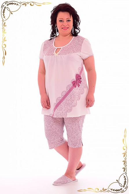 Пижама 1 135. Цвет молоко. Вид 1. Размер 48-62