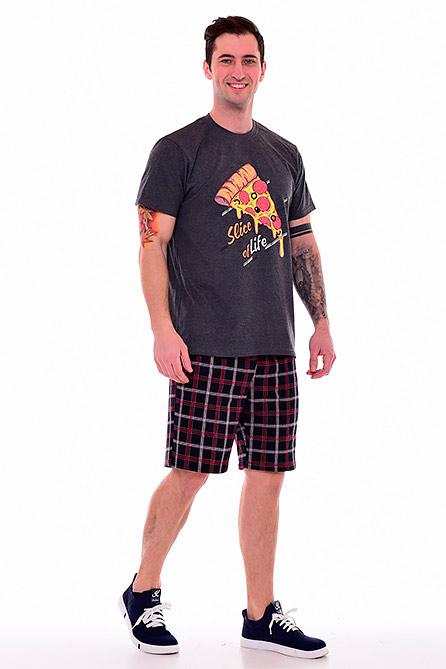 Пижама 9-159. Цвет темно серый. Вид 1. Размер 46-60