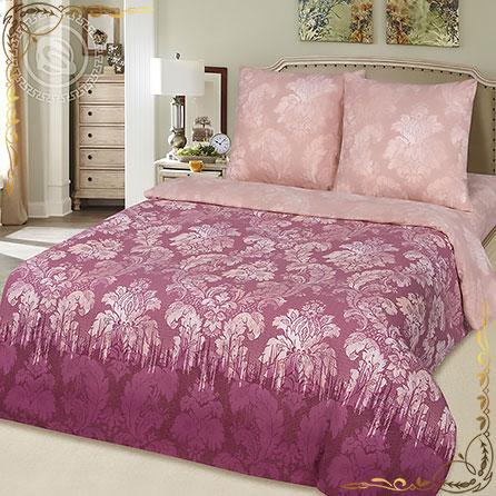 Комплект постельного белья Сангрия на резинке. Материал поплин. Цвет малиновый. Размер 1,5 Спальный