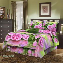 Ткань 1425 Розы на воде бязь 3д