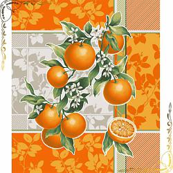 Вафельное полотенце Апельсиновый сад 50Х60