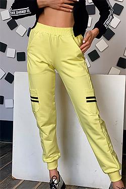 Брюки модные с боковыми и задними карманами 8043