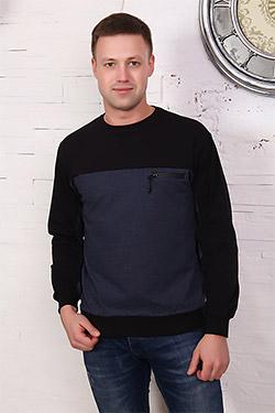 Джемпер модный комбинированный 17541