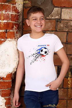 Футболка детская на мальчика из хлопка 15002