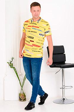 Футболка модная с печатью буквы 5662