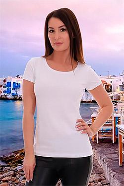 Женская футболка Татьяна из кулирки