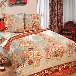 Постельное белье зима-лето Гобелен красный из бязи