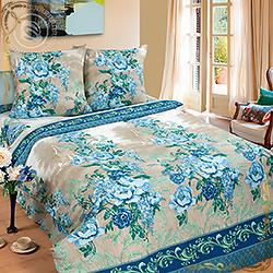 Постельное белье бязь Гобелен синий