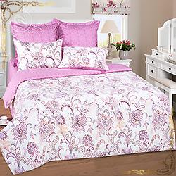 Комплект постельного белья сатин Касабланка  розовый