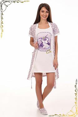 Комплект халат + сорочка 3-150 Лапочка