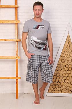 Костюм с бриджами фэмили лук 4642