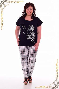 Костюм женский с брюками в клетку 5-253