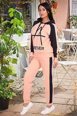 Спортивный женский костюм из футера 6117