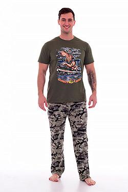 Костюм мужской с брюками хаки 9-125