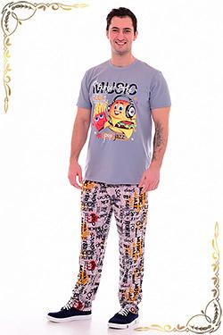 Костюм мужской с брюками и футболкой 9-131