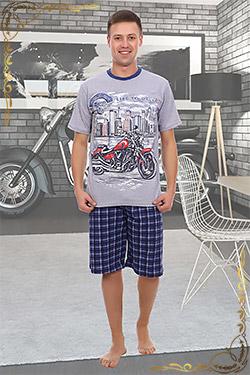 Костюм мужской трикотажный с шортами Мотокросс
