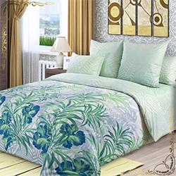 Постельное белье Амазония 2 зеленое из перкаля