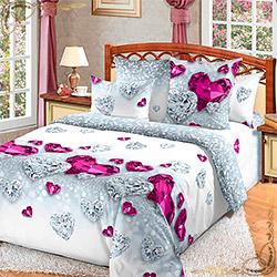 Постельное белье бязь Драгоценность 2 розовое
