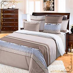 Комплект постельного белья бязь Эдуард 4 коричневый