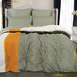 Комплект постельного белья велюр Фиджи хаки