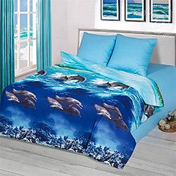 Набор бязь Голубая лагуна голубой