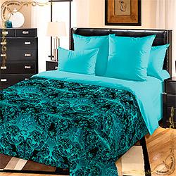 Комплект постельного белья перкаль Калипсо 2 зеленый