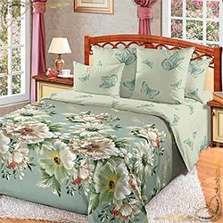 Постельное белье перкаль Каролина 1 зеленое
