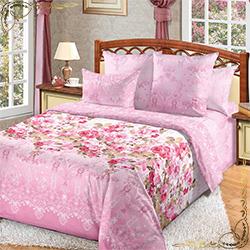 Постельное белье Мадемуазель 2 розовое из перкаля