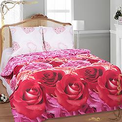 Постельное белье бязь Марго розовое