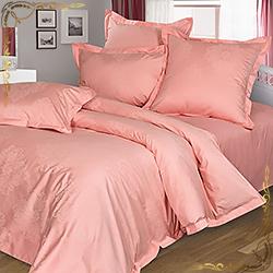Комплект постельного белья сатин-жаккард Маркиза персиковый