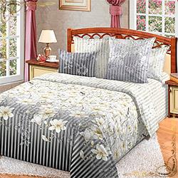 Комплект постельного белья перкаль Мемуары 1 серый