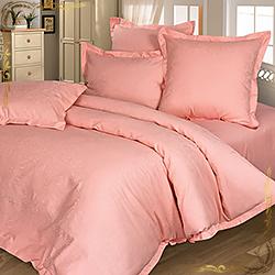 Комплект постельного белья сатин-жаккард Миледи персиковый
