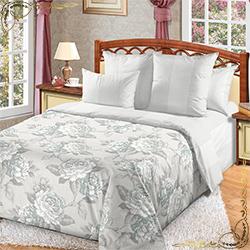 Комплект постельного белья Мира 1 серый из перкаля