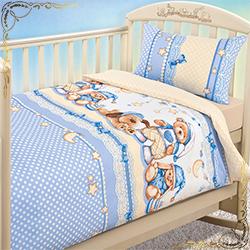 Комплект постельного белья  на резинке Нежный сон из бязи