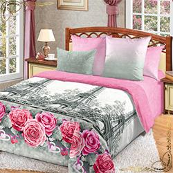 Постельное белье Ностальжи розовое из перкаля