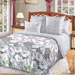 Комплект постельного белья Ода любви 3 коричневый из перкаля