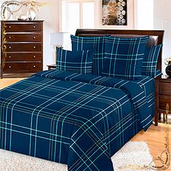 Комплект постельного белья перкаль Патрик 3 синий