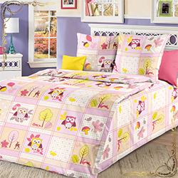 Детское постельное белье Дорис 2 розовое из бязи