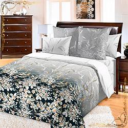 Комплект постельного белья перкаль Екатерина коричневый