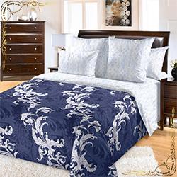 Комплект постельного белья Эрик 6 синий из сатина