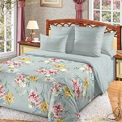 Комплект постельного белья Мгновение 1 серый из бязи
