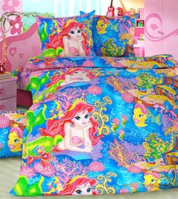 Комплект постельного белья Морская сказка из бязи