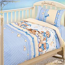 Постельное белье Нежный сон голубое из бязи