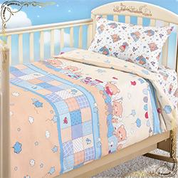 Комплект постельного белья Паровозик из бязи