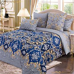 Постельное белье перкаль Версаль синий